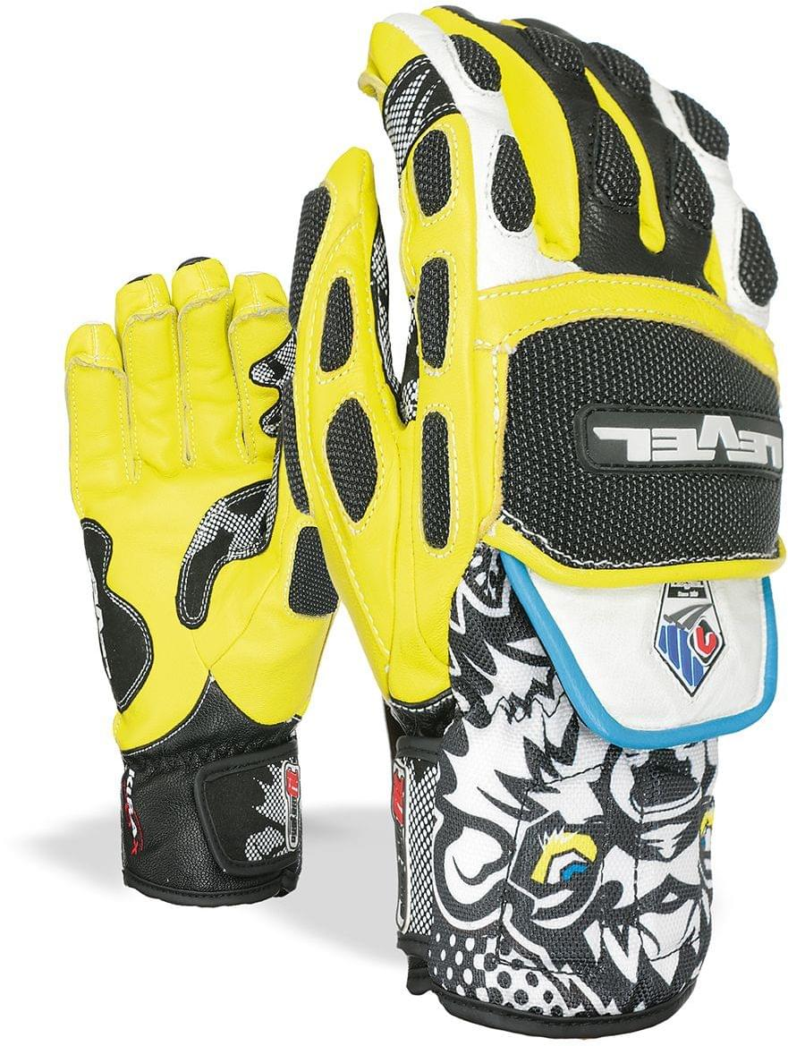 Lyžařské rukavice Level Worldcup CF - black ellow - Spot Shop 42dd57f57e