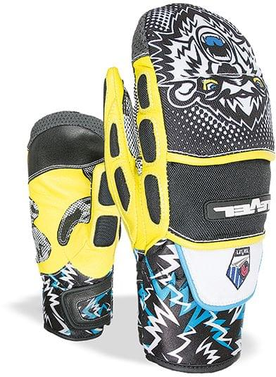 Dětské lyžařské palčáky Level Junior s Worldcup CF Mitt - black yellow da7426213e