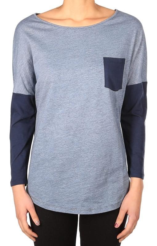 Dámské triko IrieDaily Women Ringel Pocket LS - navy - Spot Shop e42e499318
