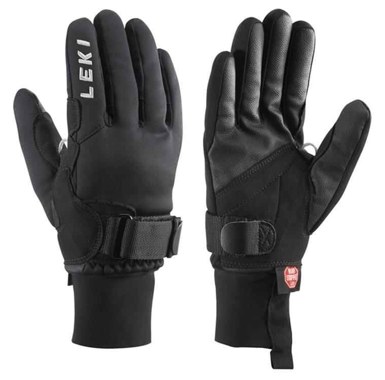 Bežecké rukavice Leki Shark XC - black - Spot Shop 93338f4ef5