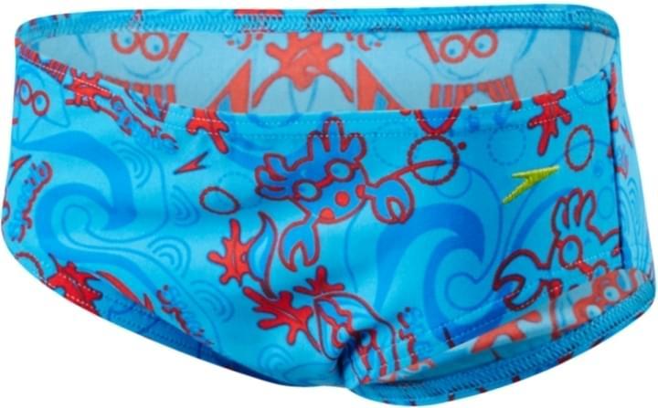 Chlapecké plavky Speedo Seasquad - neon blue risk red japan blue ... 0d28002fc5