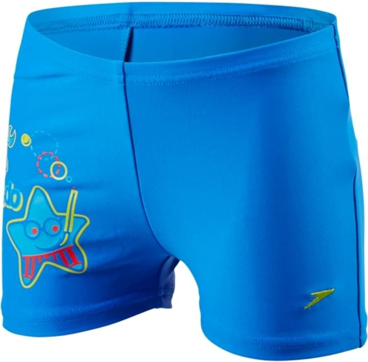 Chlapecké plavecké šortky Speedo Placement Aquashort - neon blue risk  red japan blue 02d0c0ba5a