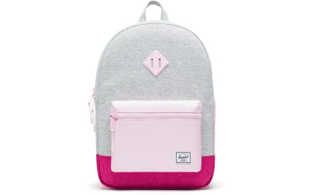 Dětský batoh Herschel Heritage Youth XL - light grey crosshatch very berry  crosshatch pink e9c5e21ca7