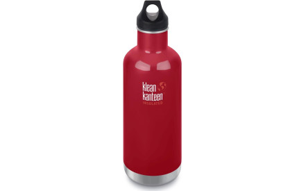 Nerezová termolahev Klean Kanteen Insulated Classic w Loop Cap - mineral  red 946 ml 67c17bf04b0